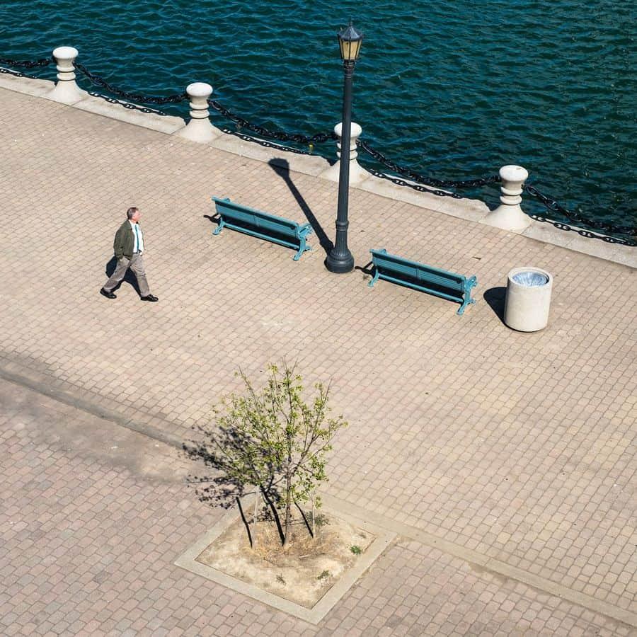 הליכה, קליבלנד, ספסלים, טיילת