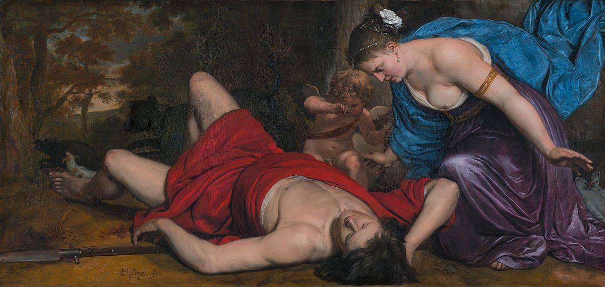 קורנליס הולשטיין, ונוס ואמור מתאבלים על מותו של אדוניס