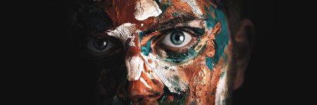 גבר, גבר צעיר, פנים צבועות, צבע פנים