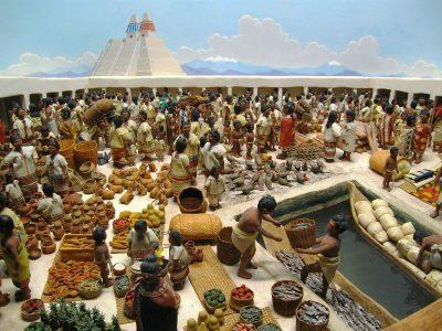 שוק, אצטקים, טנוצ'טיטלאן, Tenochtitlan, Tlatelolco