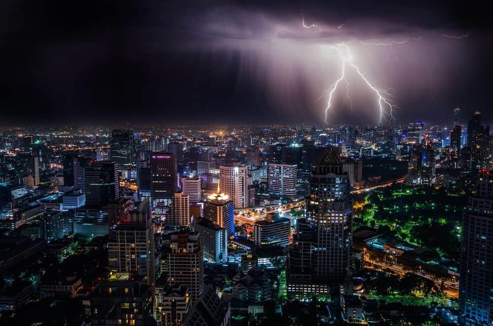 סערה, ברק, בנגקוק