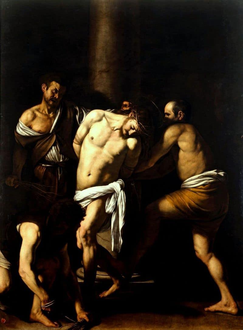 הלקאת ישו, קאראווג'ו