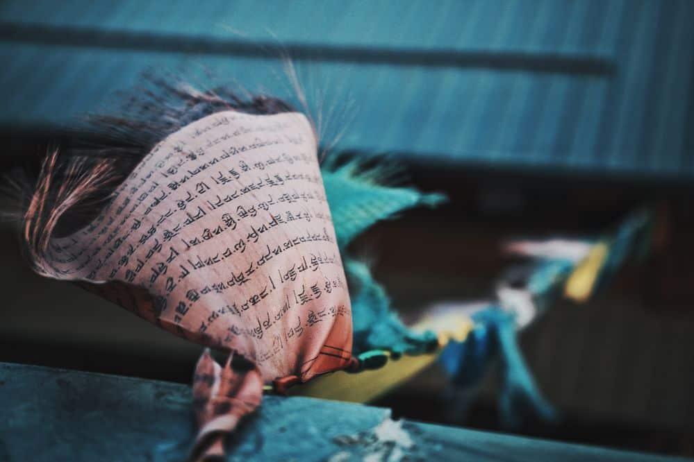 טיבט, טקסט, בודהיזם, חבל כביסה