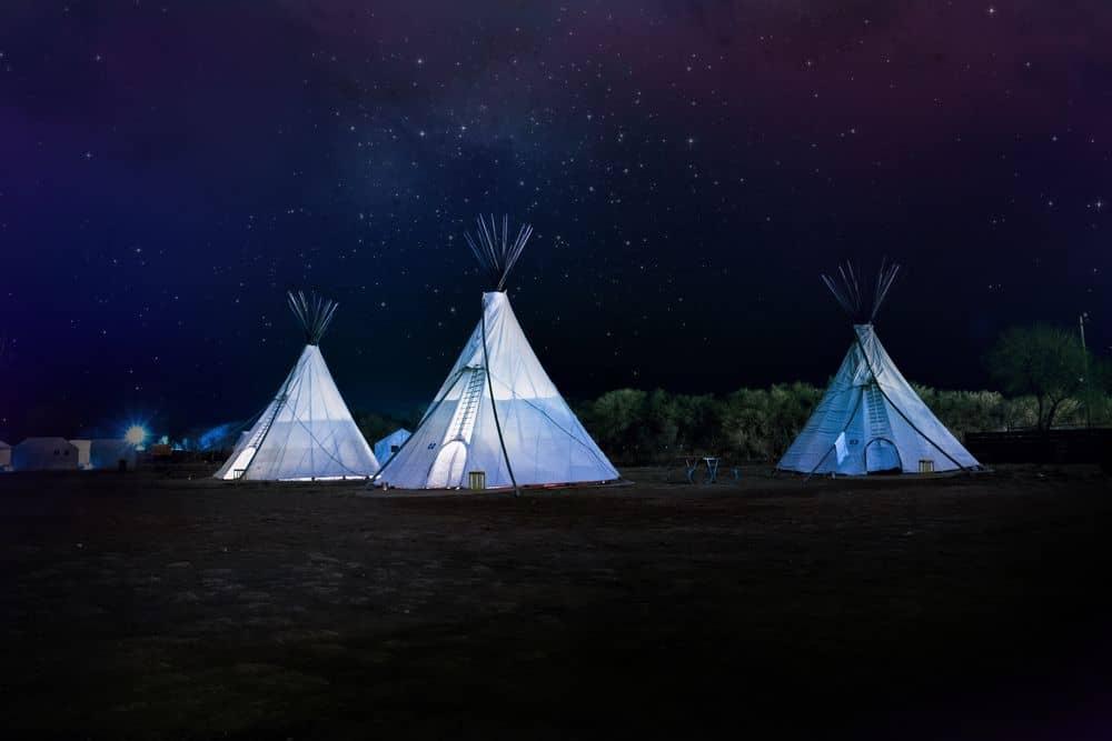 טיפי, אוהל, אינדיאנים