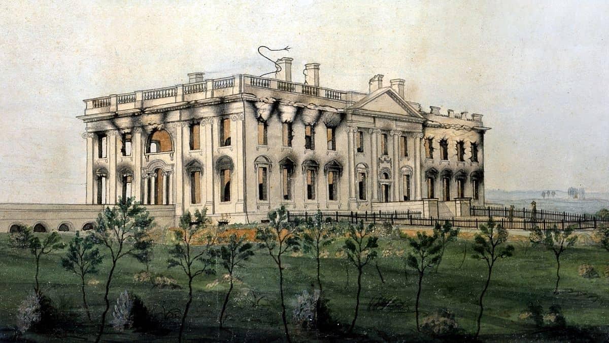 הבית הלבן, שריפה, 1814