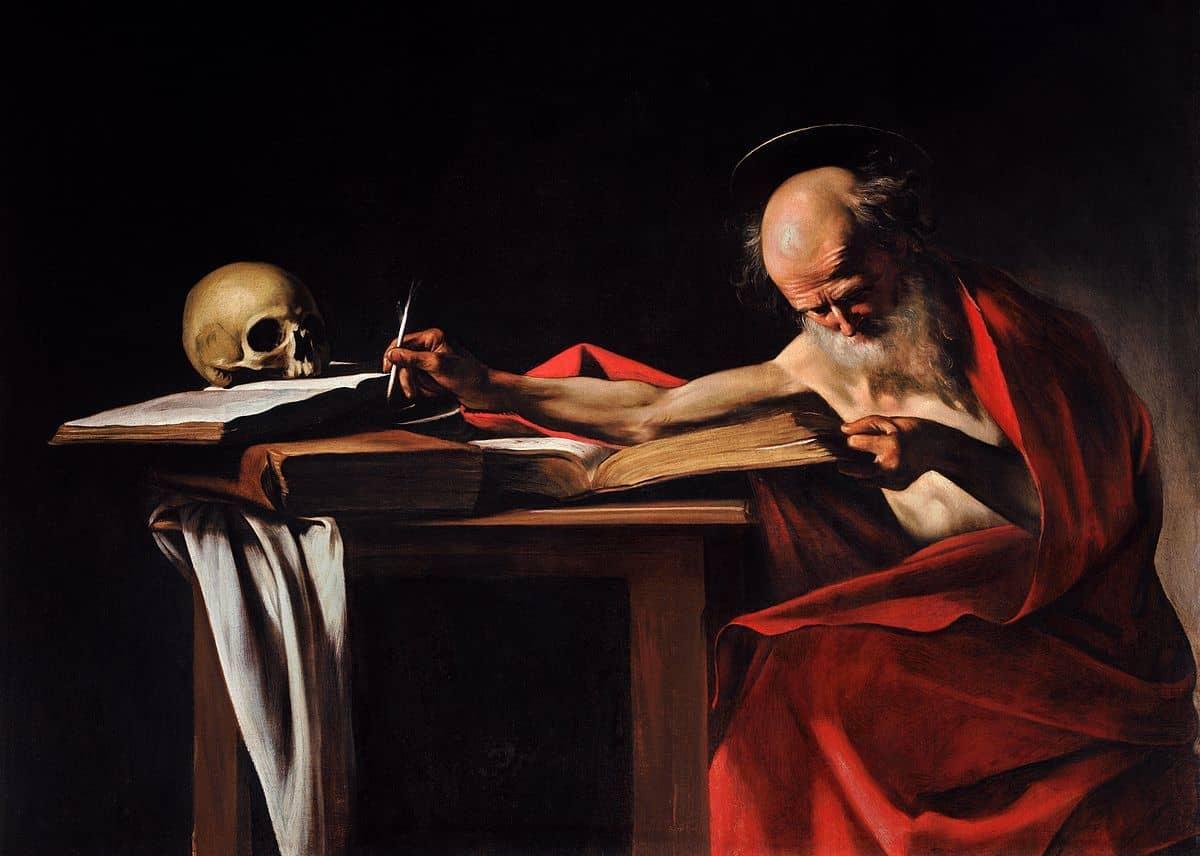 היירונימוס הקדוש כותב, קאראווג'ו