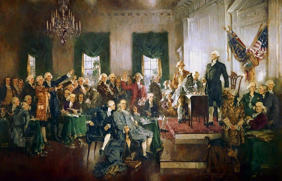 הוורד צ'נדלר כריסטי, סצנה בחתימה על חוקת ארצות הברית