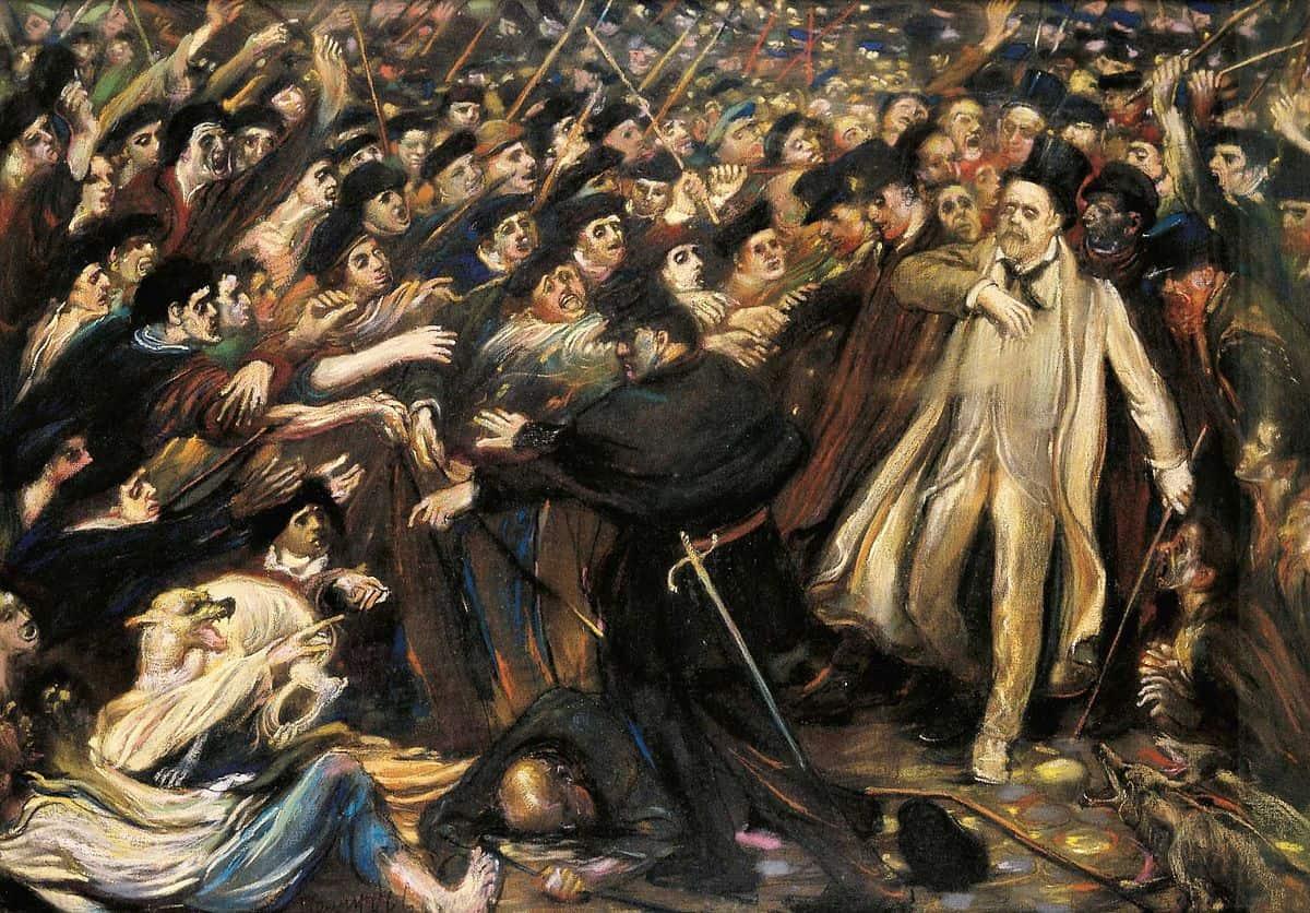 זולה עומד מול ההמון, אמיל זולה, דרייפוס, אנרי דה גרו