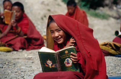 מנזר, בודהיזם, טיבט, ילד, לימוד