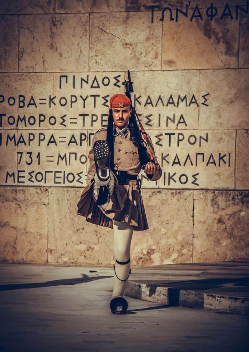 אנדרטת החייל האלמוני, אתונה, משמר נשיאותי, חייל