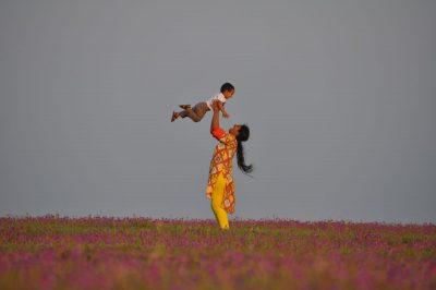 אמא, בן, ילד, הודו, אימהות