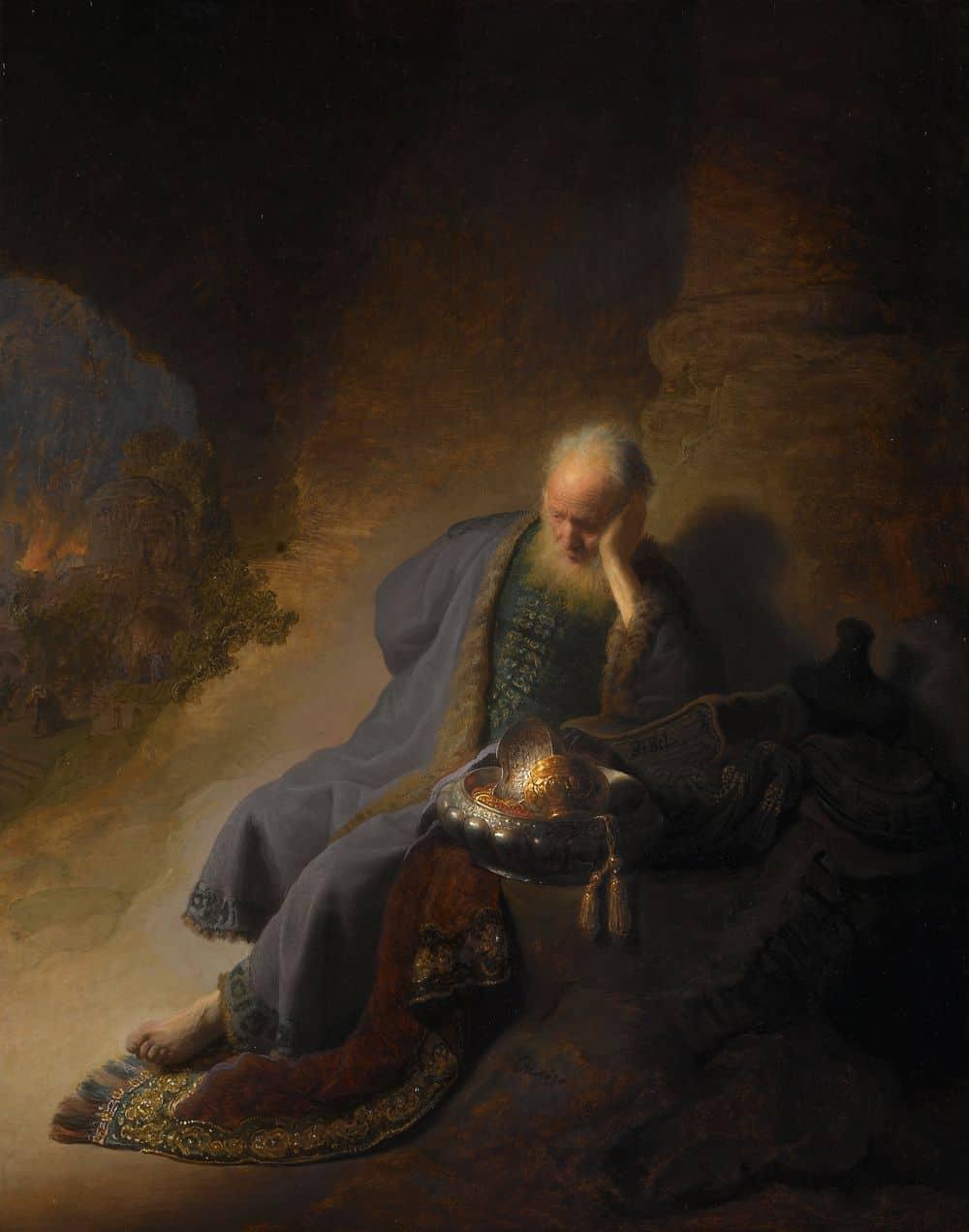 ירמיהו אבל על חורבן ירושלים, רמברנדט