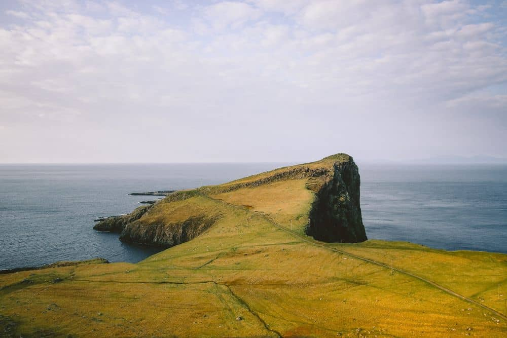 נוף, סקוטלנד, סלע, ים