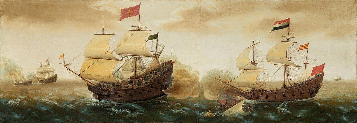 קורנליס ורביק, ספינה ספרדית, הולנדים, תותחים, קרב ימי
