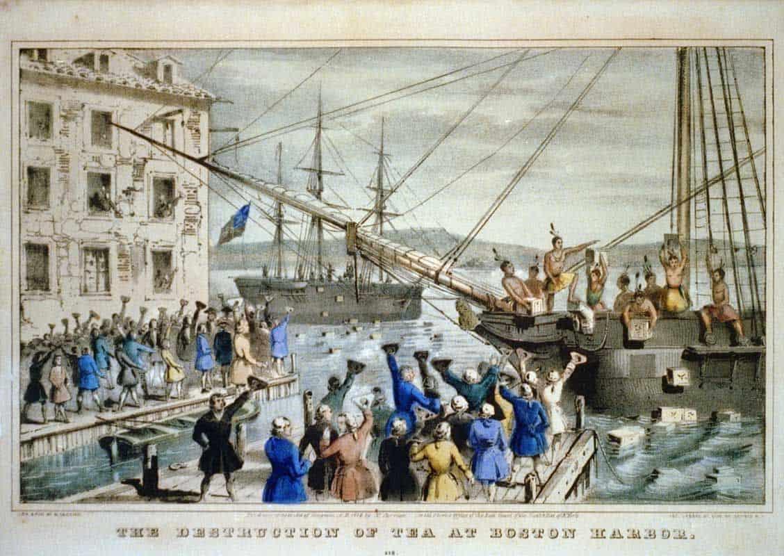 מסיבת התה, בוסטון, מיסים, מהפכה, 1776