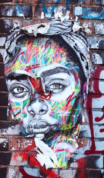 גרפיטי, לונדון, אישה