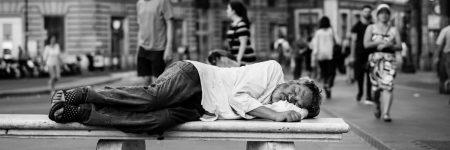 ספסל, איש ישן, רחוב, רומא, חסר בית