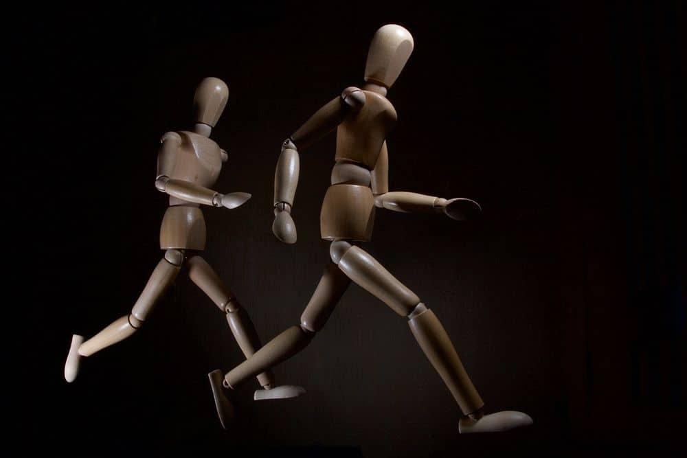 ריצה, דגמי אדם