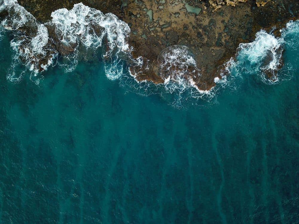 ים, סערה, גלים, תצלום אוויר
