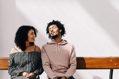 ספסל, זוג, שיחה