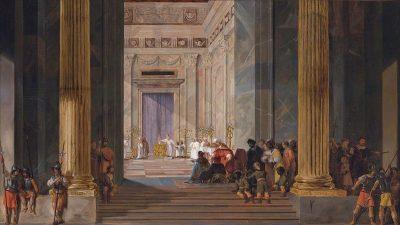 מלכת שבא בפתח מקדש שלמה בירושלים, סלומון דה בריי