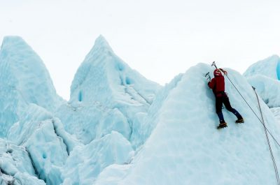 מטפס הרים, קרח, שלג