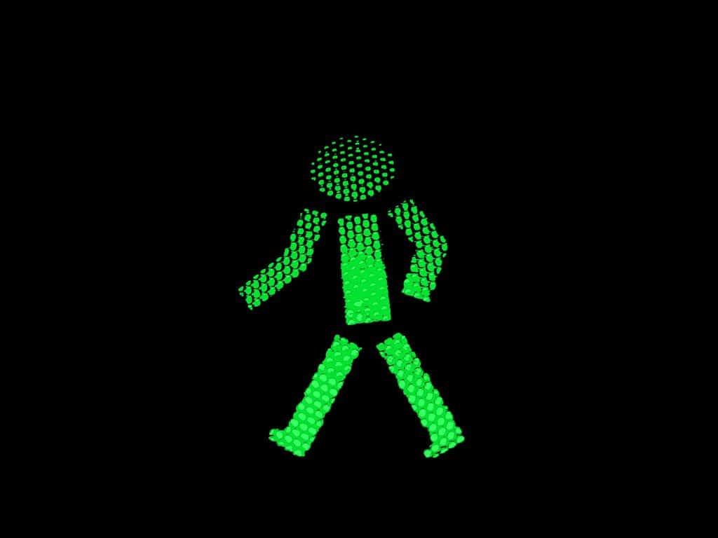 אור ירוק, רמזור, הולכי רגל