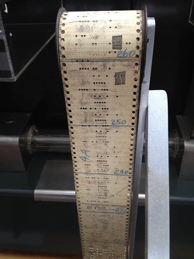 סרט נייר מנוקב, מחשב, Harvard Mark I