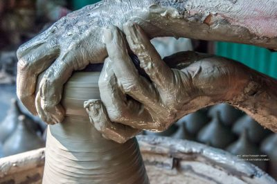 ידיים, חימר, אובניים