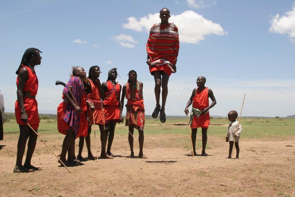 מסאי, שבט, קניה, אריות