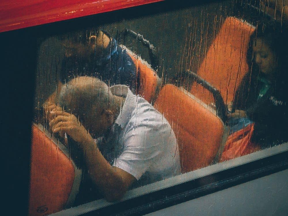 גבר, אוטובוס, דיכאון, סטרס