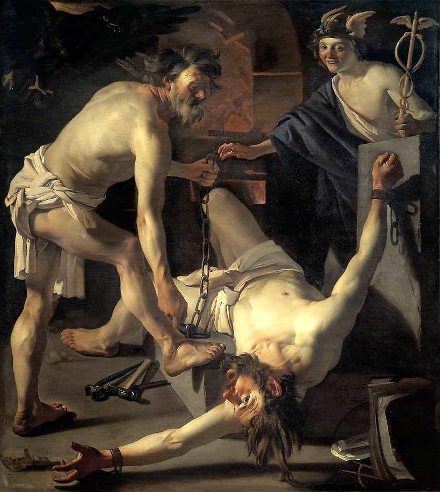 פרומתיאוס נכבל על ידי וולקן, דירק ון בבורן