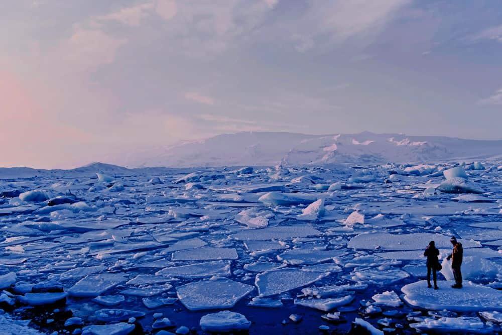 קרחונים, איסלנד