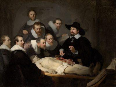 """השיעור באנטומיה של ד""""ר ניקולס טולפ, רמברנדט"""