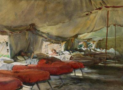 בתוך אוהל בית חולים, ג'ון סינגר סרג'נט
