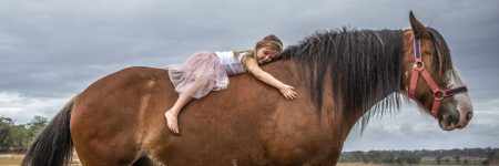 ילדה, סוסה, קליידסדייל
