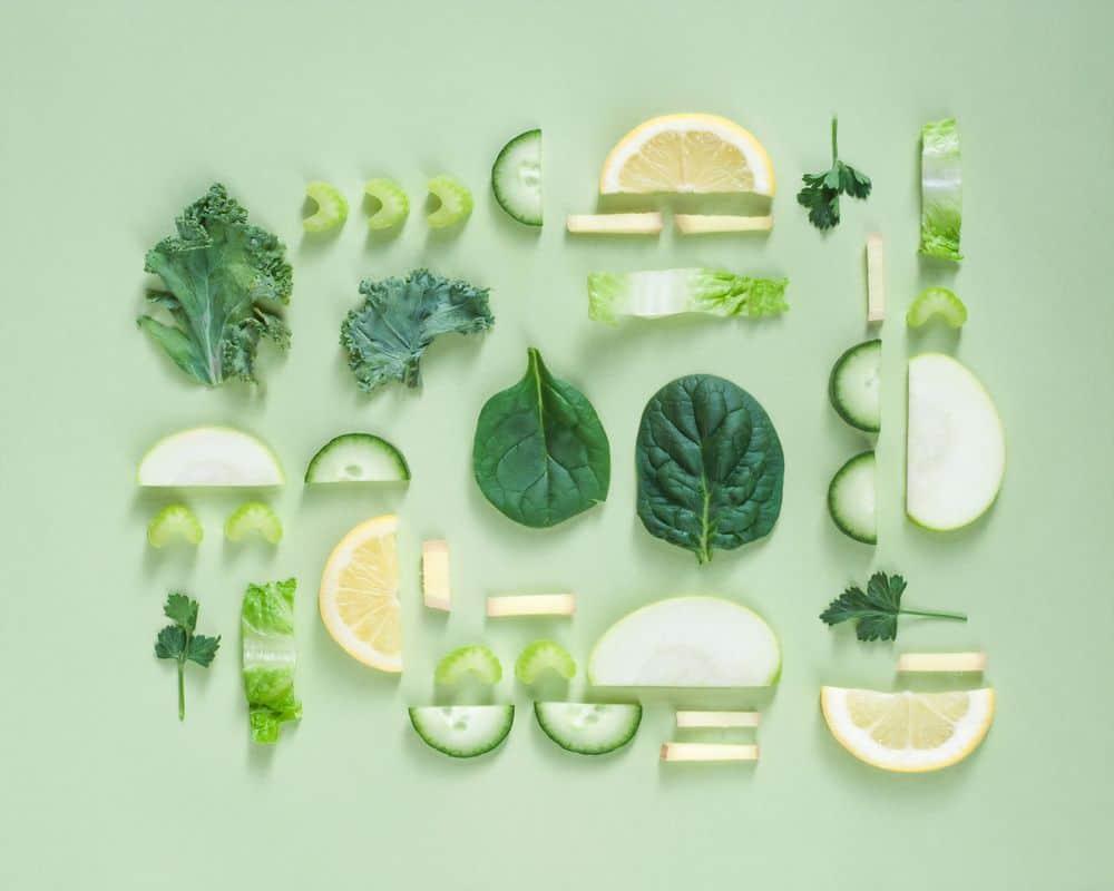 עלים, ירקות ירוקים, מיץ ירוק