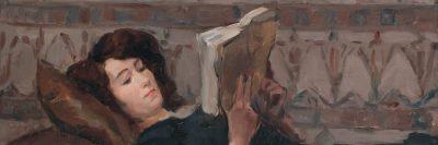 צעירה קוראת על ספה, איזק ישראלס