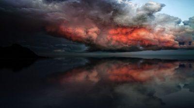 עננים, יבשה, ים, סערה