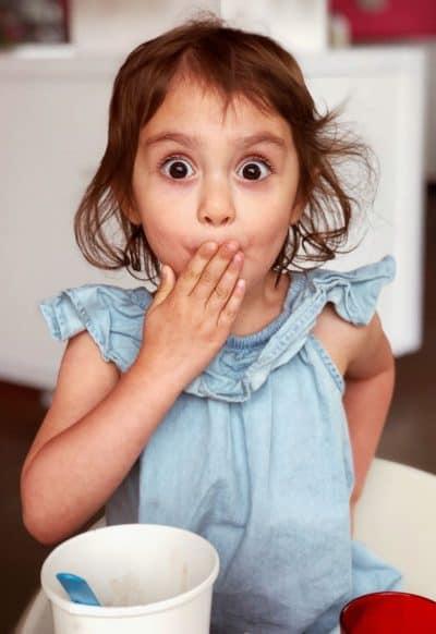 ילדה, הפתעה, הבעה מופתעת