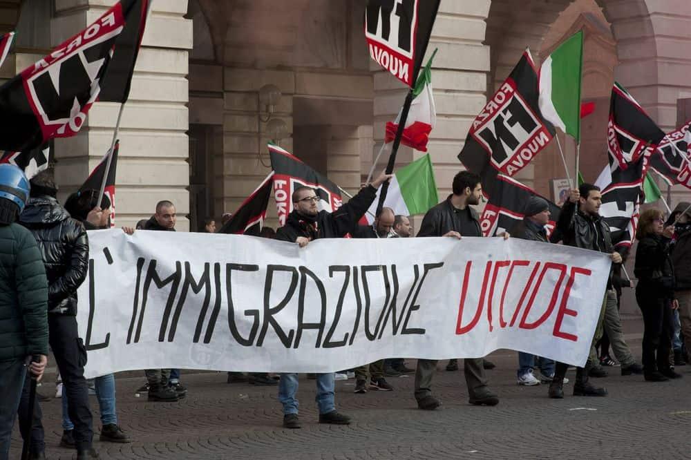 Forza Nuova, הגירה, איטליה, פשיזם
