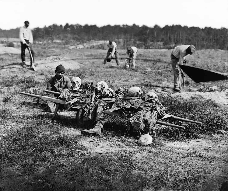 מלחמת האזרחים, קבורה, שחורים