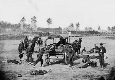 אמבולנס, תרגיל פינוי פצועים, מלחמת האזרחים