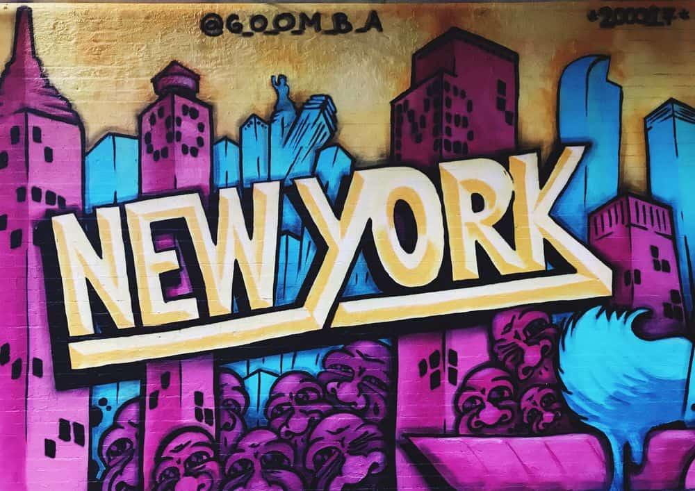 ניו יורק, גרפיטי, קיר