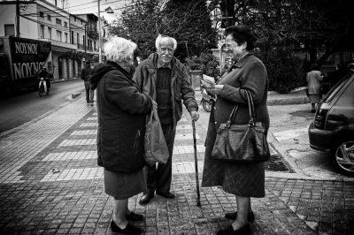 קשישים, חברים, שיחה