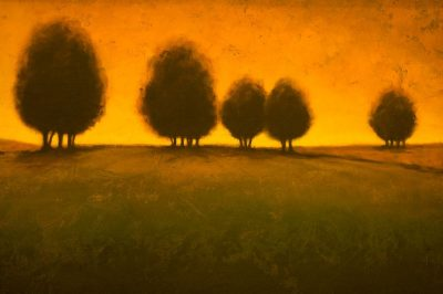 נוף, שקיעה, עצים