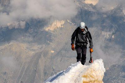 מטפס, פסגה, הר, קרח