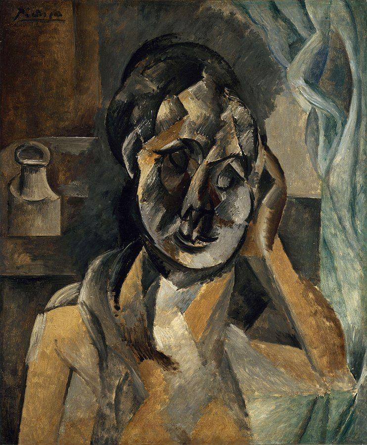 פבלו פיקאסו, אישה עם מיכל של חרדל