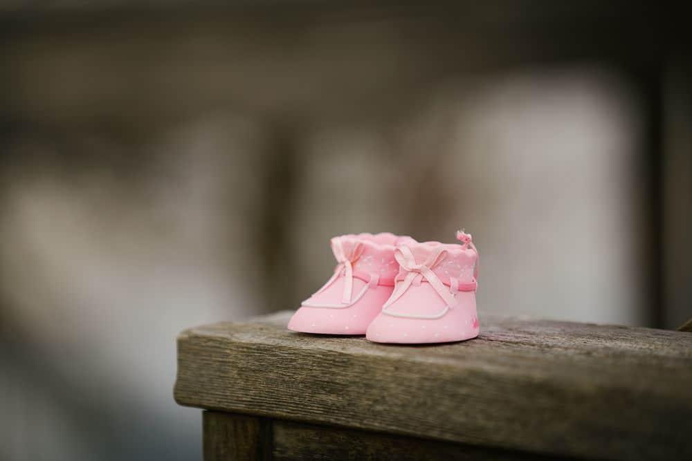 נעלי תינוקת, תינוק, ורוד