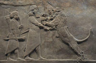 ציד האריות, אשורבניפאל